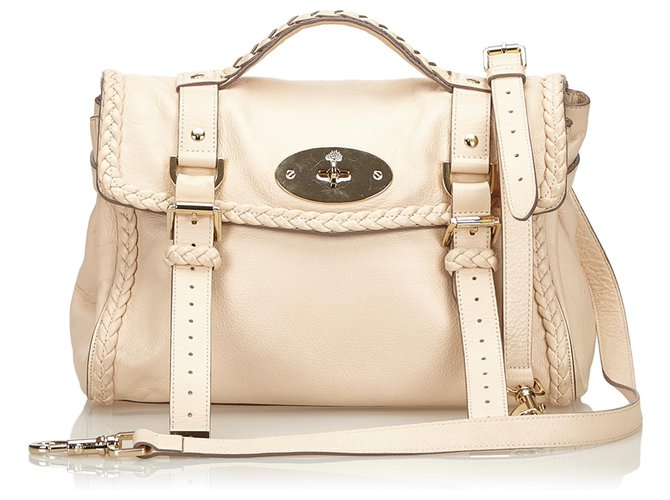 Mulberry Mulberry White Leather Alexa Satchel Handbags Leather,Other White,Cream ref.187651