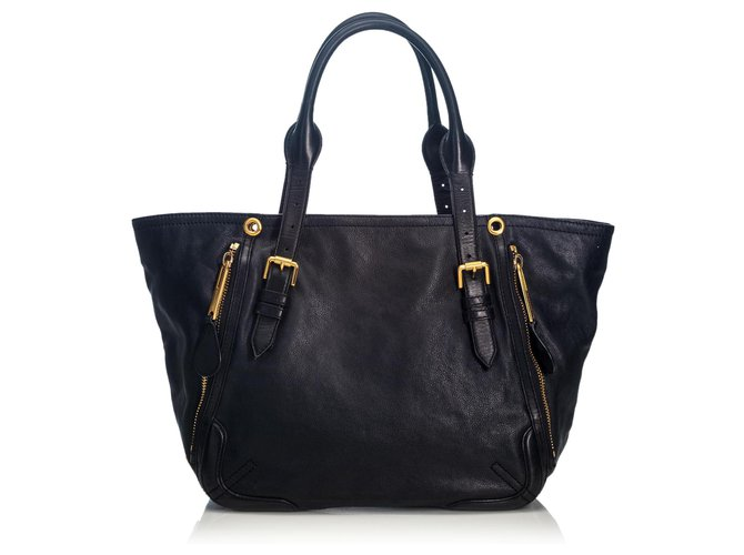 Burberry Burberry Black Small Maidstone Tote Bag Totes Leather,Other Black ref.187695