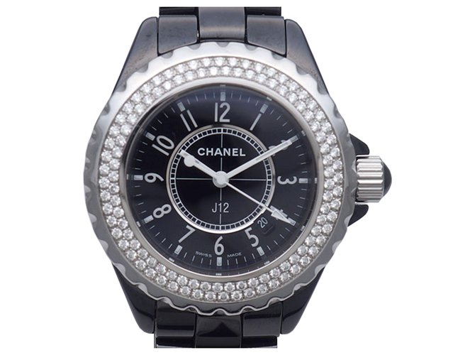 Chanel Chanel Black Diamond J12 watch Fine watches Other Black,Silvery ref.187857