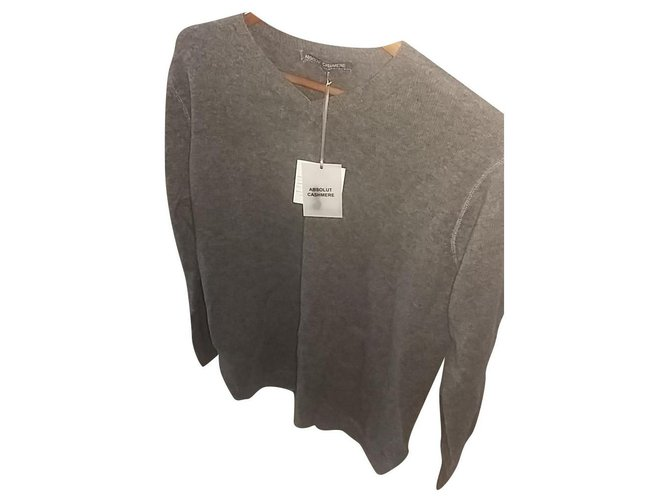 Autre Marque Sweaters Sweaters Cashmere Grey ref.188659