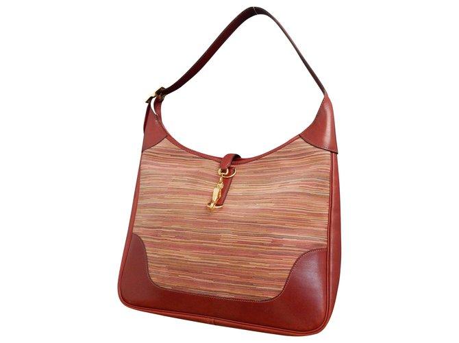 Hermès Hermès Trim 35 Handbags Leather Red ref.189207