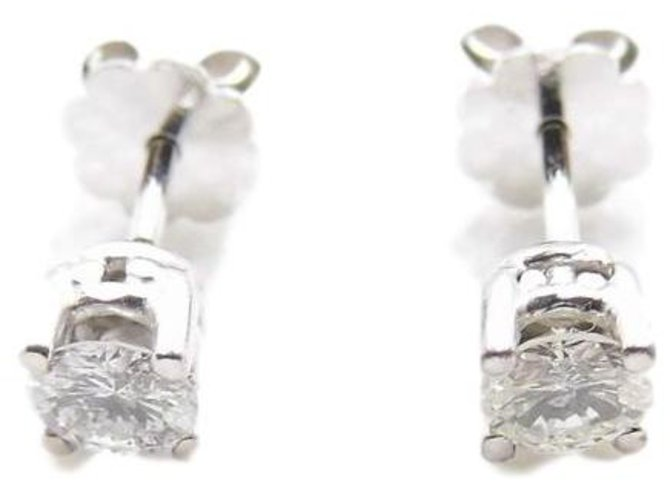 Autre Marque gold nails 18k diamonds 0,70 cts total env Earrings Gold White ref.190617