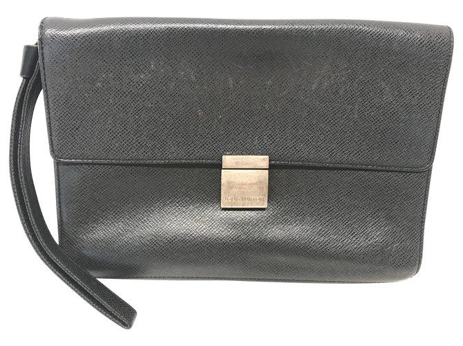 Louis Vuitton LOUIS VUITTON Vintage Handbags Leather Black ref.190638