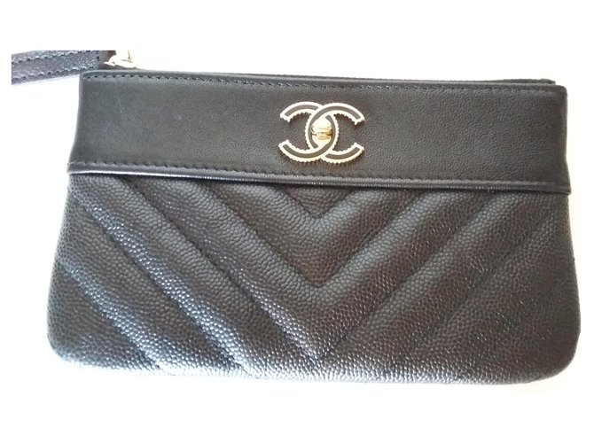 Chanel Chanel classic mini clutch. 2019. Purses, wallets, cases Leather Black ref.191269