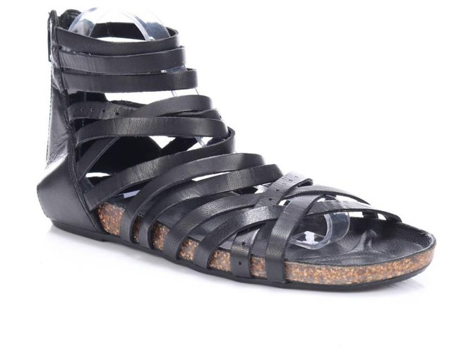Vagabond Sandals Black Leather  ref.191292