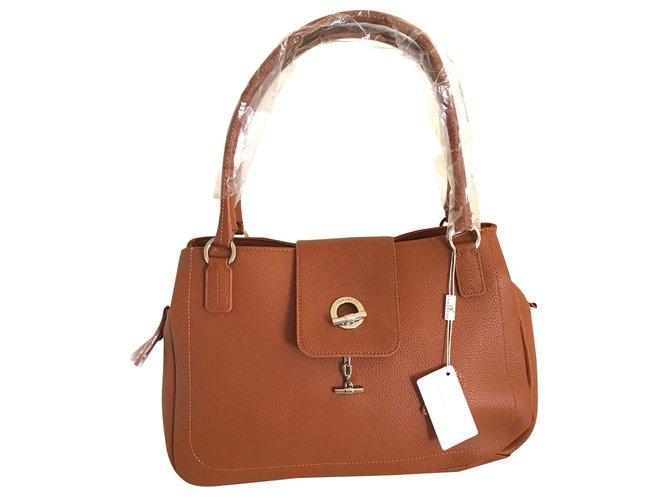 Handbags Leather Cognac Ref 191414