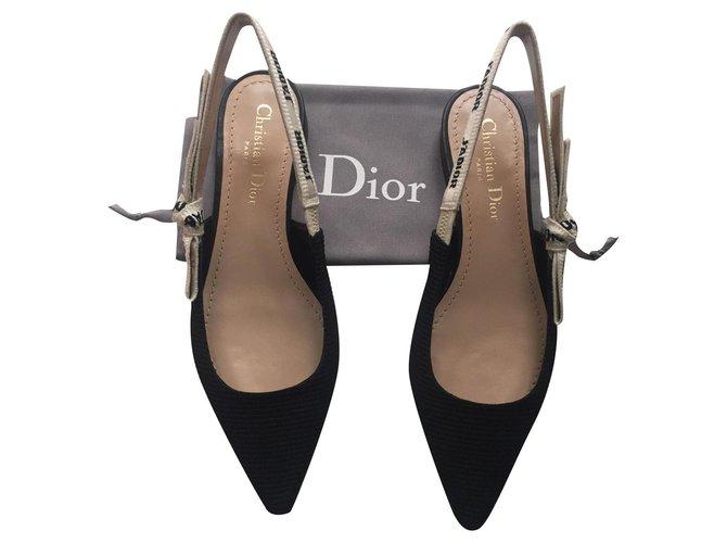 Christian Dior I ADIOR Ballet flats Cloth Black ref.191507