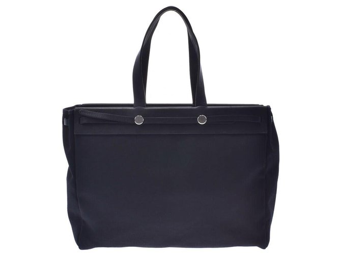 Hermès Hermès Cabag Handbags Cloth Black ref.192004