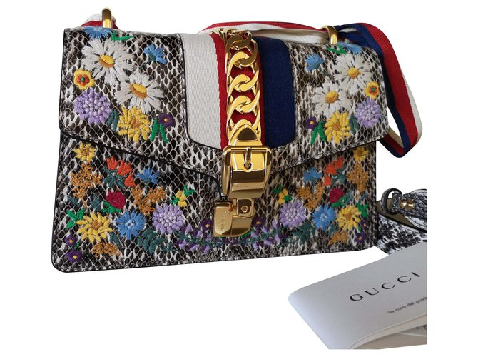 Gucci Gucci Sylvie Snakeskin Python Handbags Exotic leather Other ref.192090