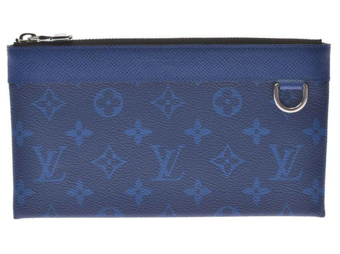 Louis Vuitton Louis Vuitton Discovery Clutch bags Cloth Blue ref.192170