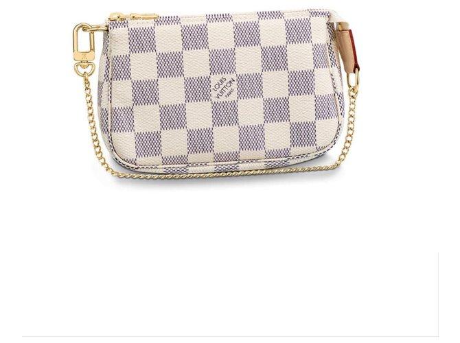 Louis Vuitton Mini pochette accessories Clutch bags Other Beige ref.192389