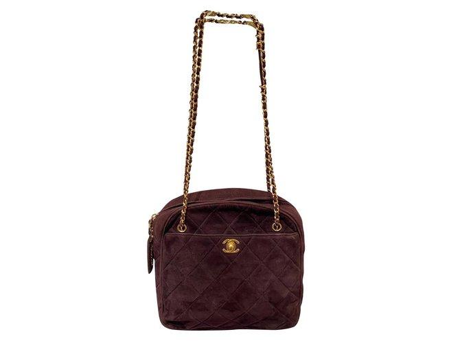 Chanel Handbags Handbags Deerskin Prune ref.192392