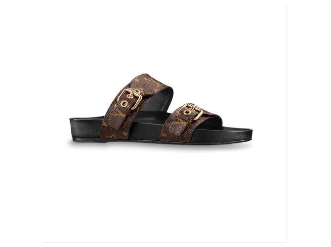 Louis Vuitton LV bom dia flat mule Sandals Other Brown ref.192924