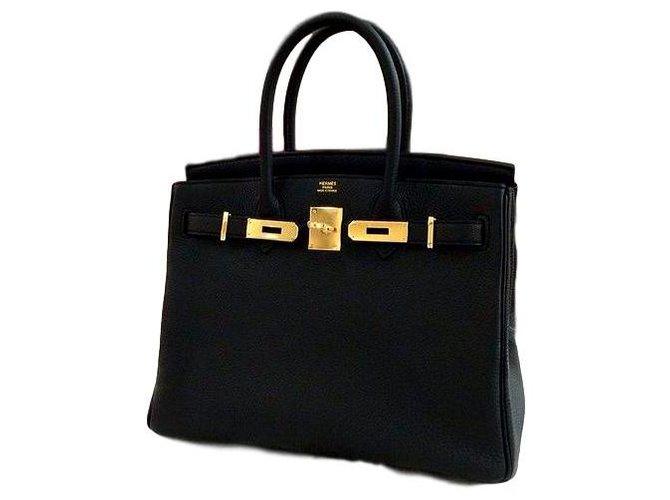 Hermès Birkin 30 Hermes Handbags Leather Black ref.193617
