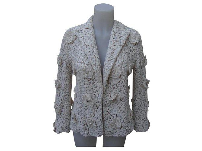 Chloé Jackets Jackets Lace Cream ref.194280