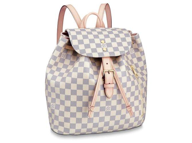 Louis Vuitton Sperone backpack Beige Leather  ref.194857