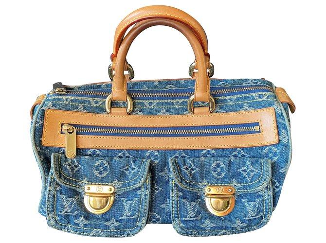 Louis Vuitton Handbags Handbags Denim Blue ref.195482