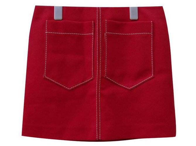 Chloé Skirts Skirts Viscose,Acetate Red ref.195744