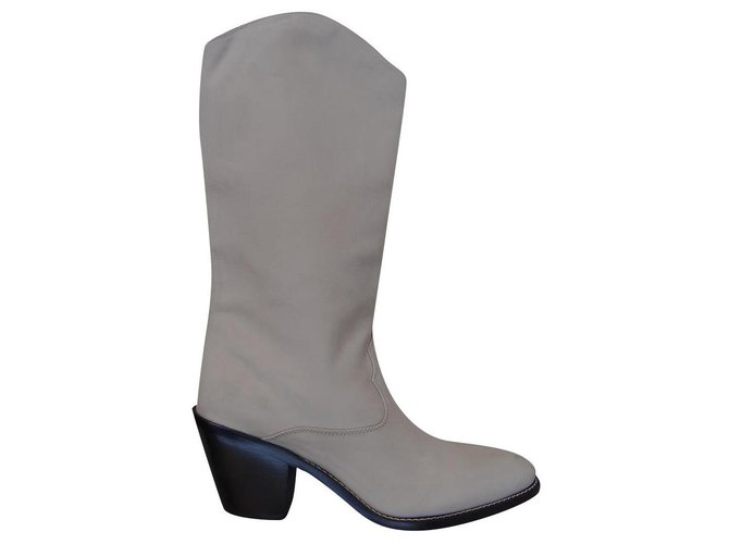 Chloé Boots Boots Leather Beige,Cream ref.195750