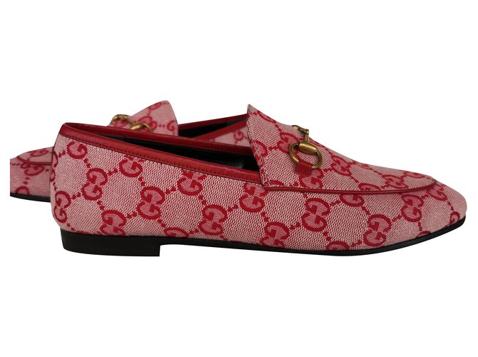 Gucci Gucci New Jordaan loafers Ballet flats Other Red ref.195864