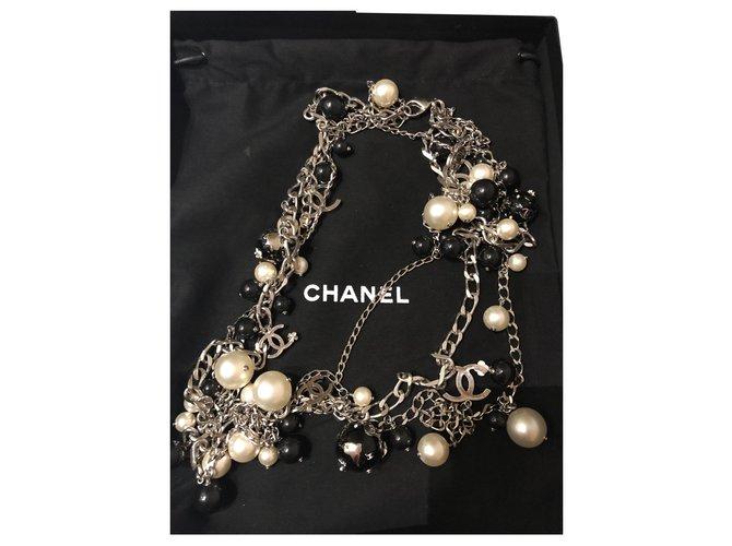 Chanel Necklace Necklaces Chain Black ref.196831