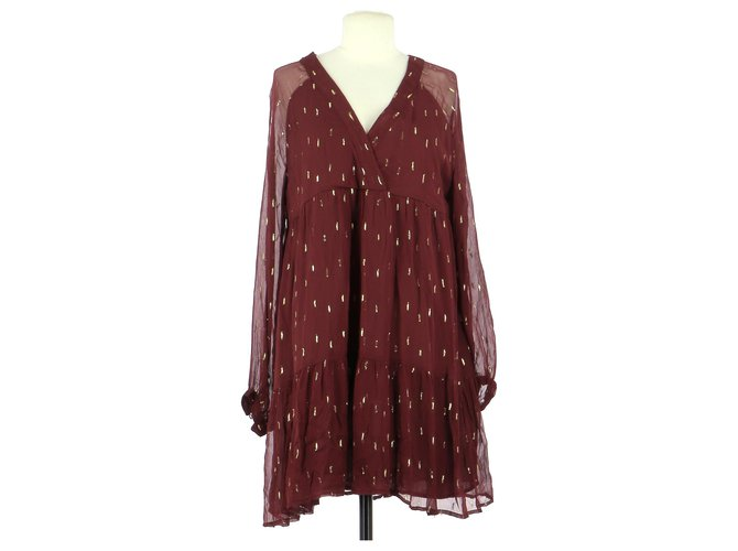 SéZane robe Dresses Viscose Dark red ref.197597