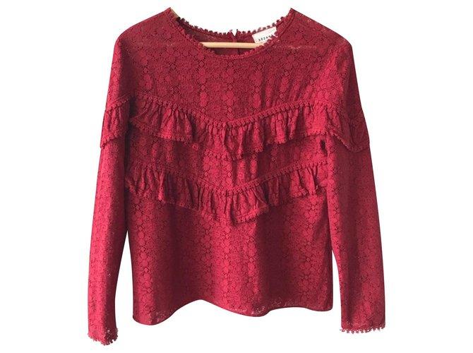 SéZane Tops Tops Cotton Dark red ref.197968