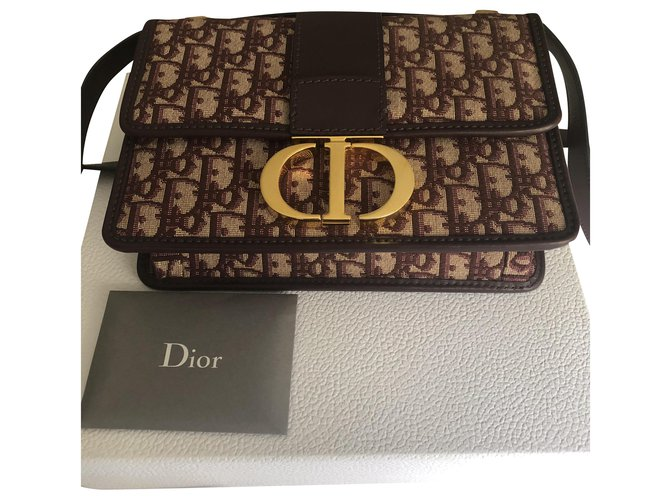 Christian Dior 30 Montaigne Handbags Cloth Prune ref.198136