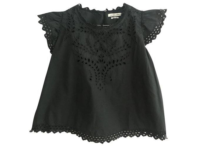 Isabel Marant Tops Tops Cotton Black ref.198205
