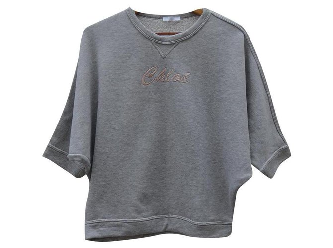 Chloé Knitwear Knitwear Cotton Grey ref.198250