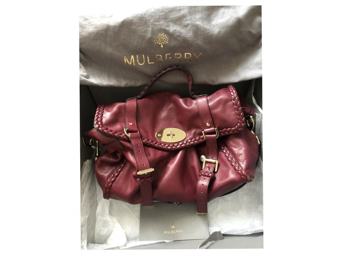 Mulberry Alexa oversized limited edition Handbags Leather Dark red ref.198298