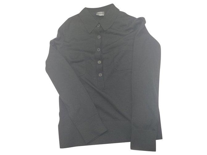 Chanel Knitwear Black Wool  ref.199097