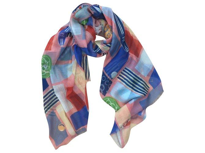 Chanel STOLE CHANEL CASHMERE Scarves Cashmere Multiple colors ref.199244