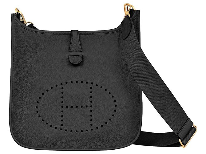 Hermès Evelyne 29 Handbags Leather Black ref.199702