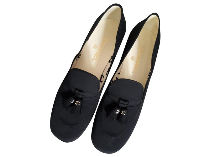 Chanel New Chanel Moccasins Flats Other Black ref.199931