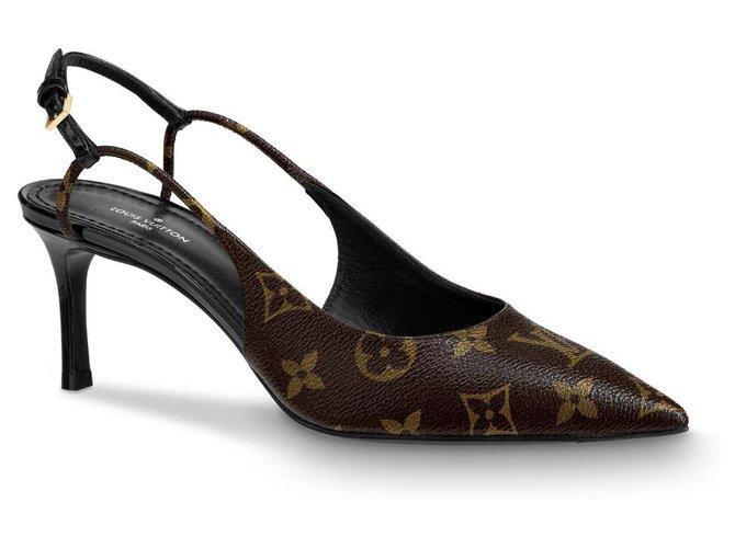 Louis Vuitton LV Décolleté new Sandals Leather Brown ref.199932