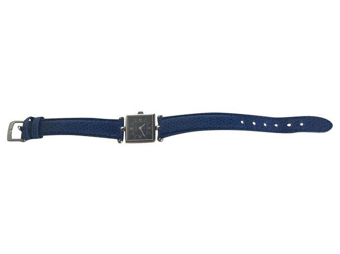 Montres Van Cleef & Arpels Van Cleef & Arpels Montre-bracelet pour femme Cuir Bleu ref.199934
