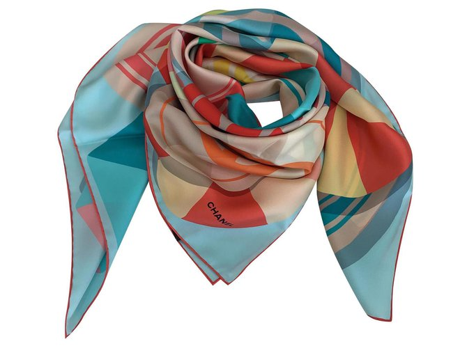 Chanel Chanel scarf Scarves Silk Multiple colors ref.199955