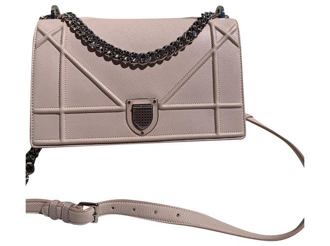 Christian Dior Diorama Christian Dior Handbags Leather Pink ref.200624