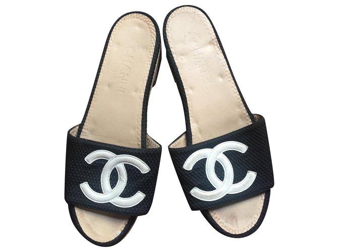 Chanel Chanel shoe Clogs Cloth Hazelnut ref.201841