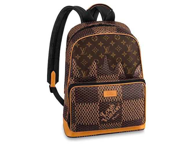 Louis Vuitton Louis Vuitton, LV x Nigo Campus backpack Backpacks Cloth Brown ref.216778