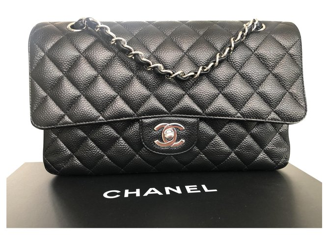 Chanel TIMELESS Handbags Leather Black ref.201869