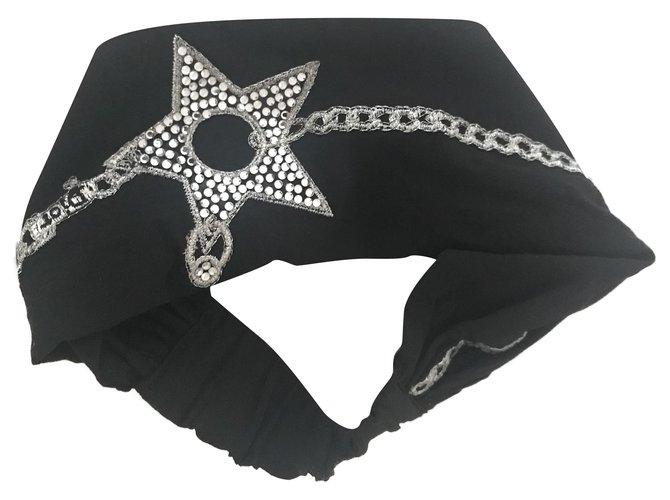 Bijoux de tête Dior Accessoires pour cheveux Soie Noir,Argenté ref.202530