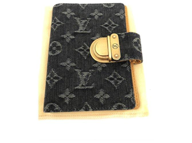 Louis Vuitton Purses, wallets, cases Purses, wallets, cases Leather,Denim Blue ref.203002