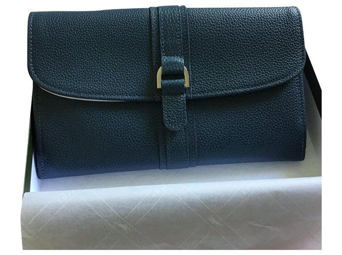 Petite Maroquinerie Longchamp Compagnon Cuir Bleu Ref 203181 Joli Closet