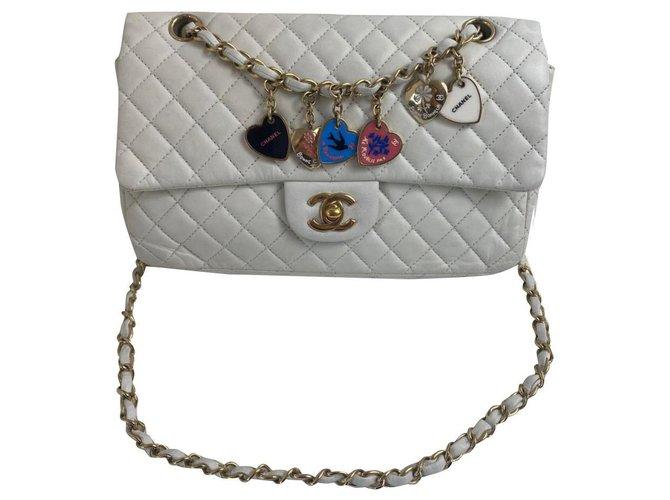 Sacs à main Chanel Chanel Cuir Blanc ref.203390