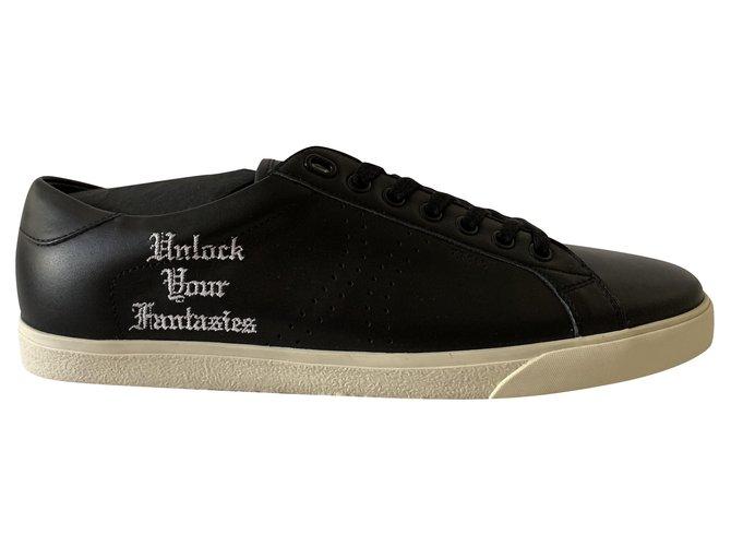 Céline Black leather Triomphe sneakers