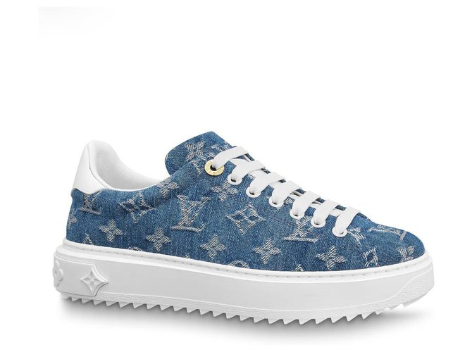 Louis Vuitton LV sneakers new Sneakers Denim Blue ref.204289
