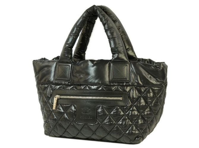 Chanel COCO Cocoon totePM Womens tote bag A48610 black x silver hardware Misc Nylon Other ref.204833