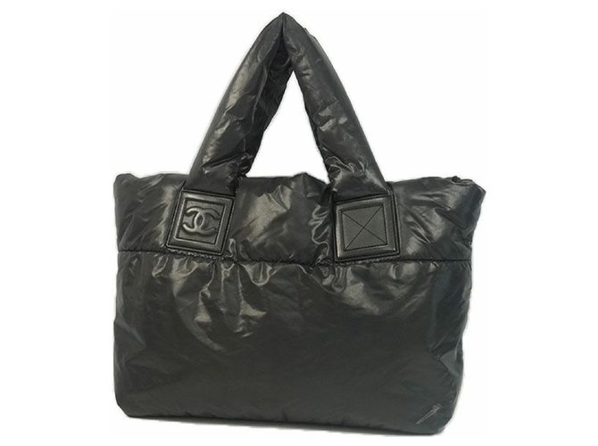 Chanel COCO Cocoon totePM Womens tote bag A47108 black Misc Nylon Black ref.204836